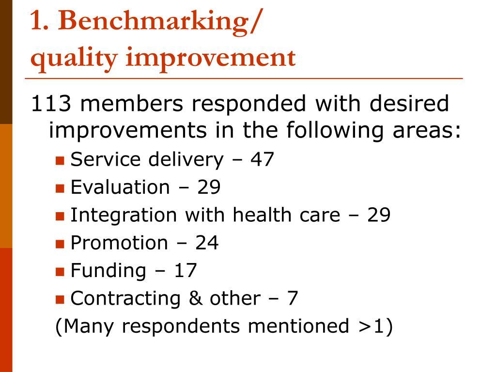 1. Benchmarking/