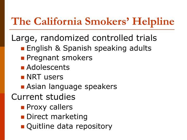 The california smokers helpline3