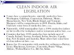 clean indoor air legislation