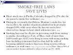 smoke free laws save lives