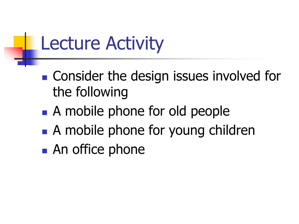 Lecture Activity