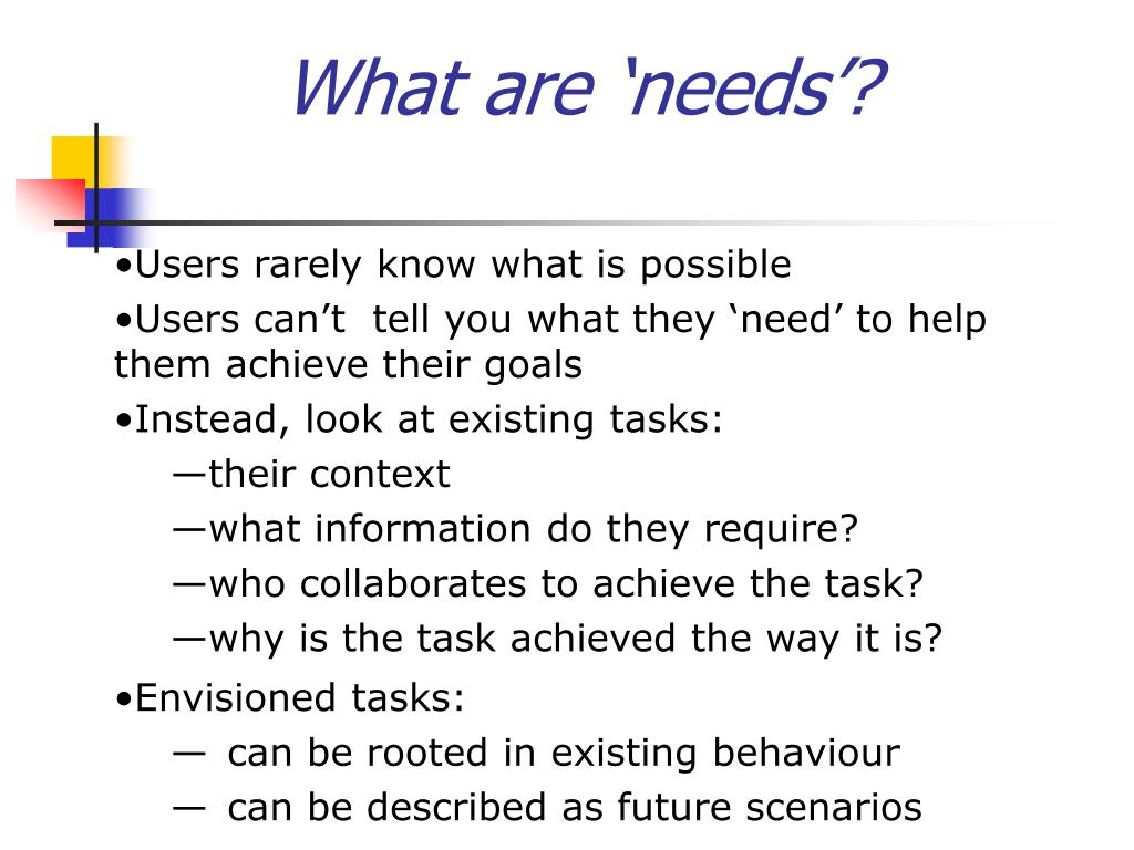 What are 'needs'?