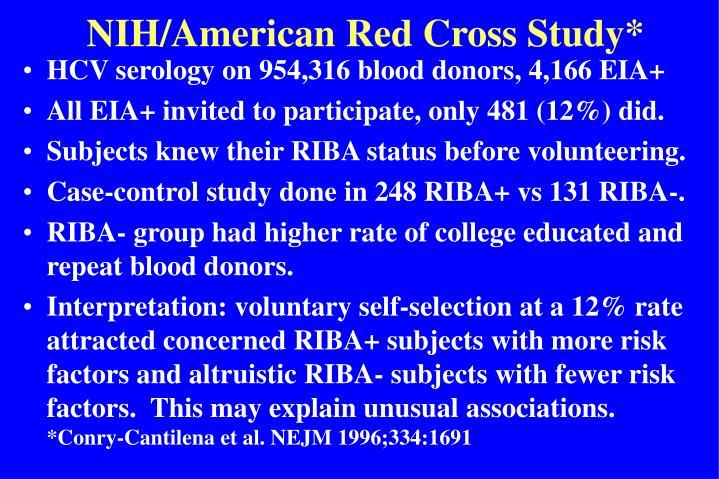 NIH/American Red Cross Study*