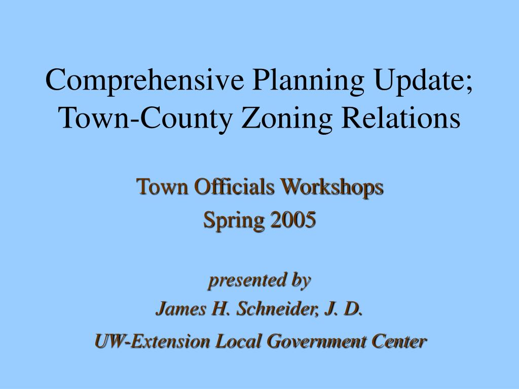 comprehensive planning update town county zoning relations l.