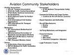 aviation community stakeholders