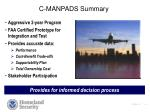 c manpads summary