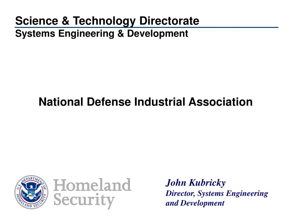 science technology directorate systems engineering development