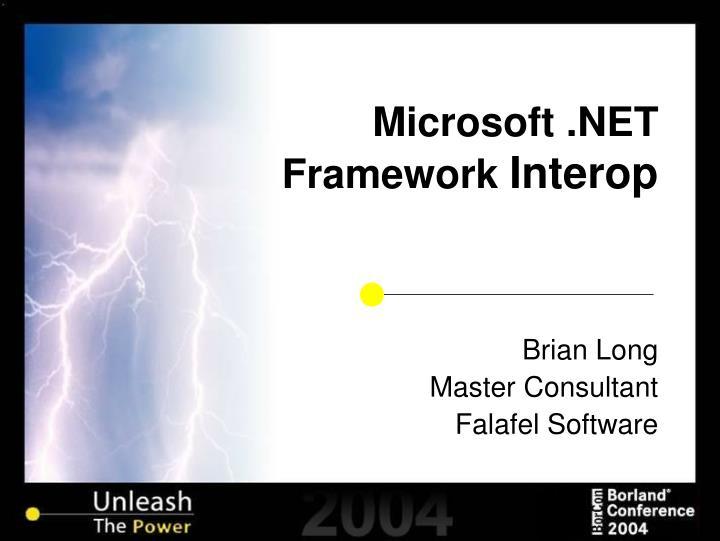 Microsoft net framework interop