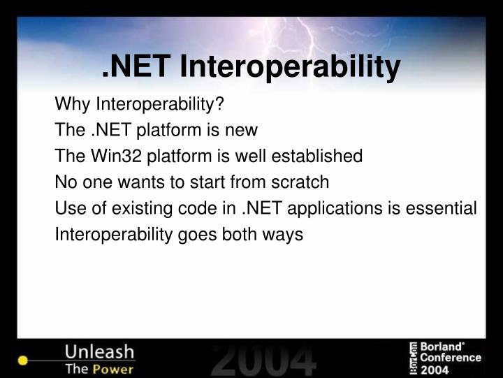 Net interoperability