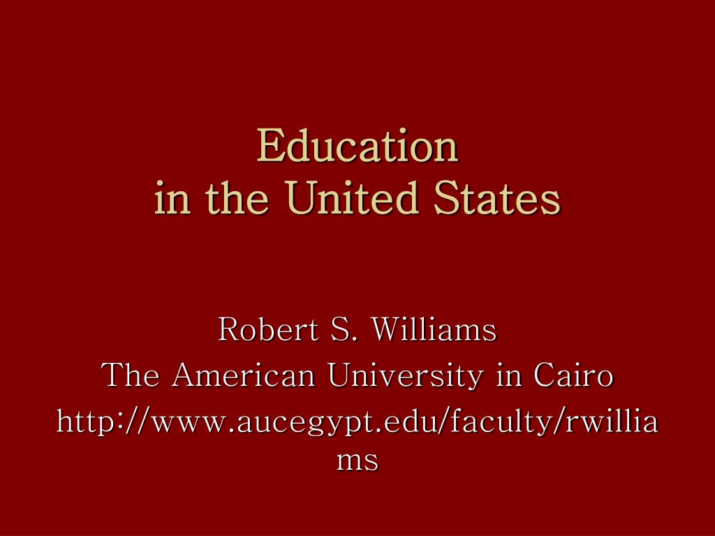 education in the united states l.