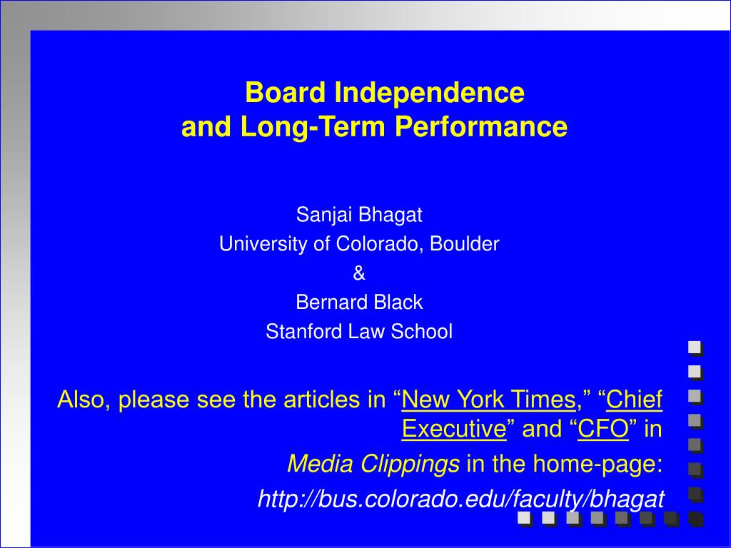 Board Independence