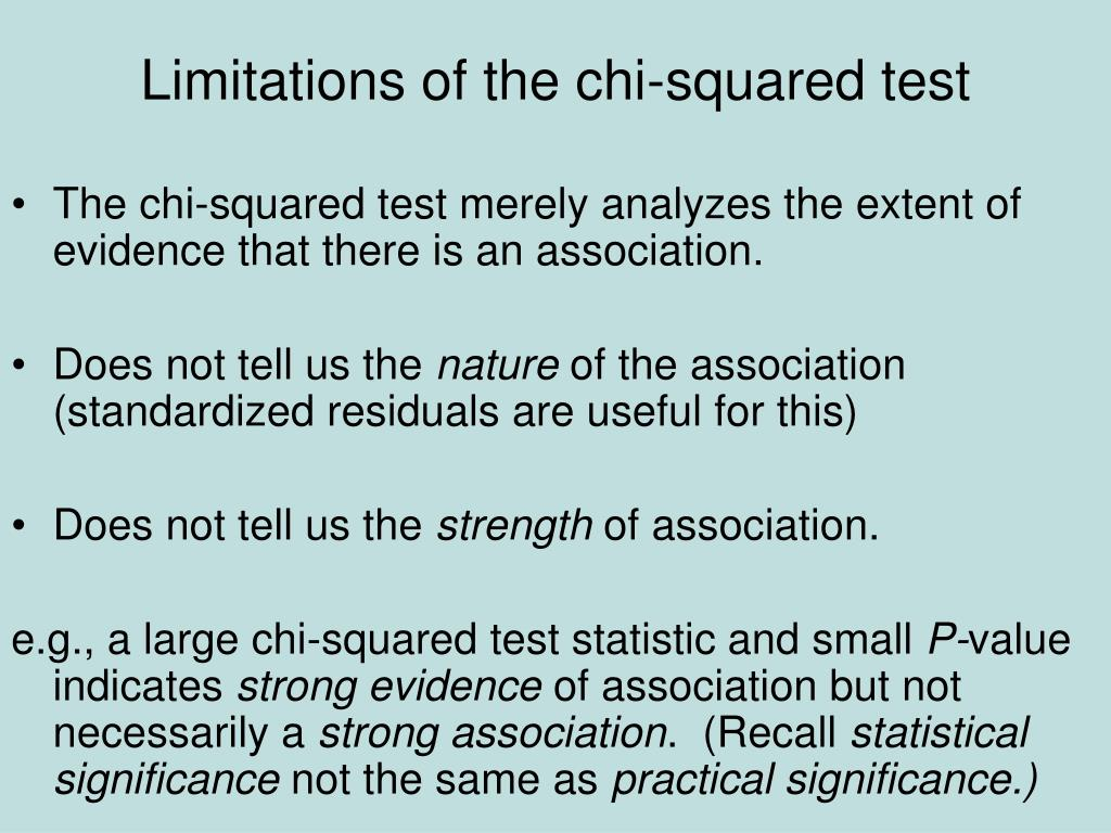 Limitations of the chi-squared test