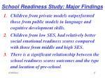school readiness study major findings