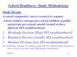 school readiness study methodology