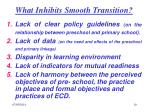 what inhibits smooth transition