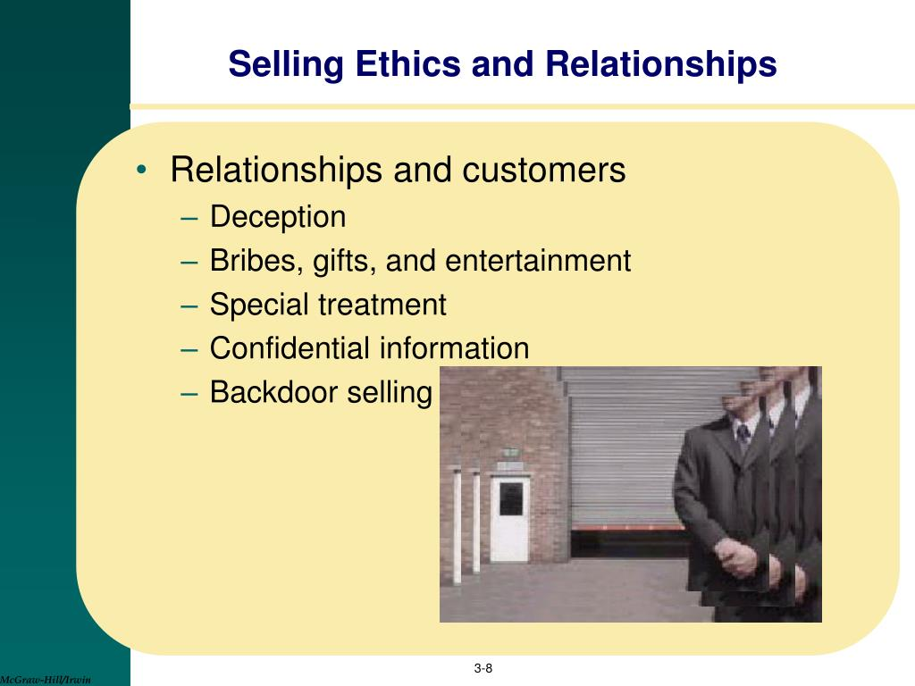 Selling Ethics and Relationships