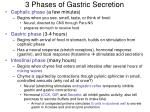 3 phases of gastric secretion