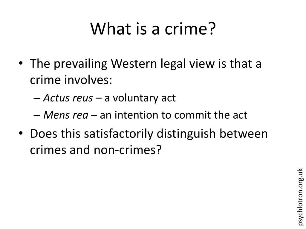 What is a crime?