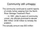 community still unhappy