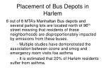 placement of bus depots in harlem