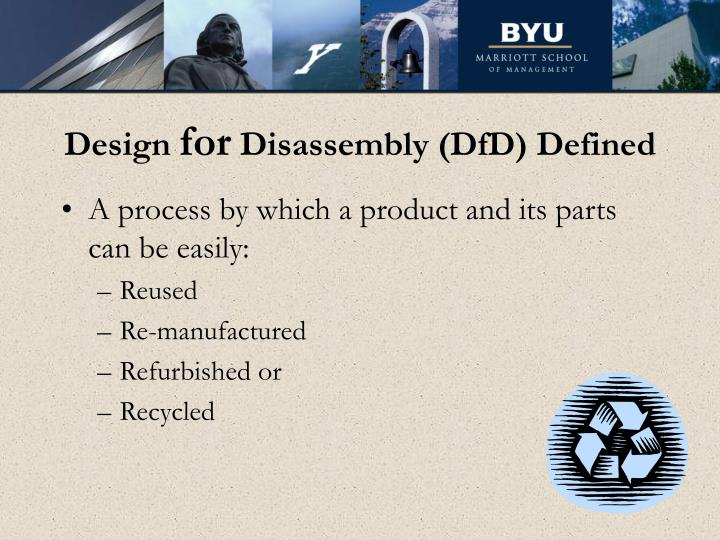 Design for disassembly dfd defined