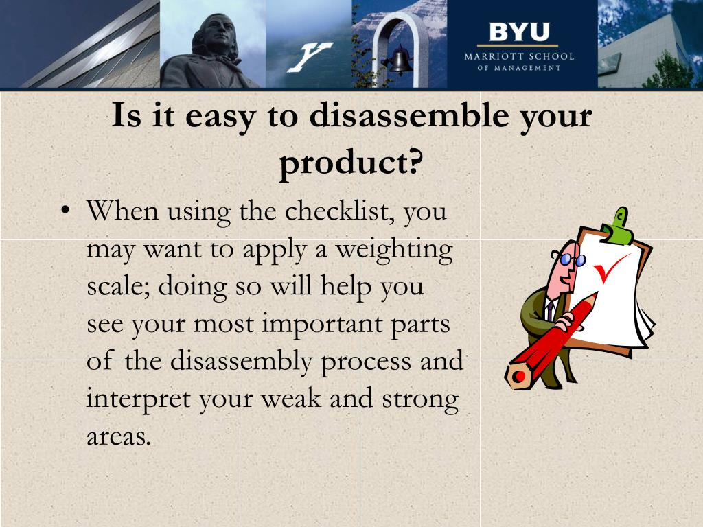 Is it easy to disassemble your product?