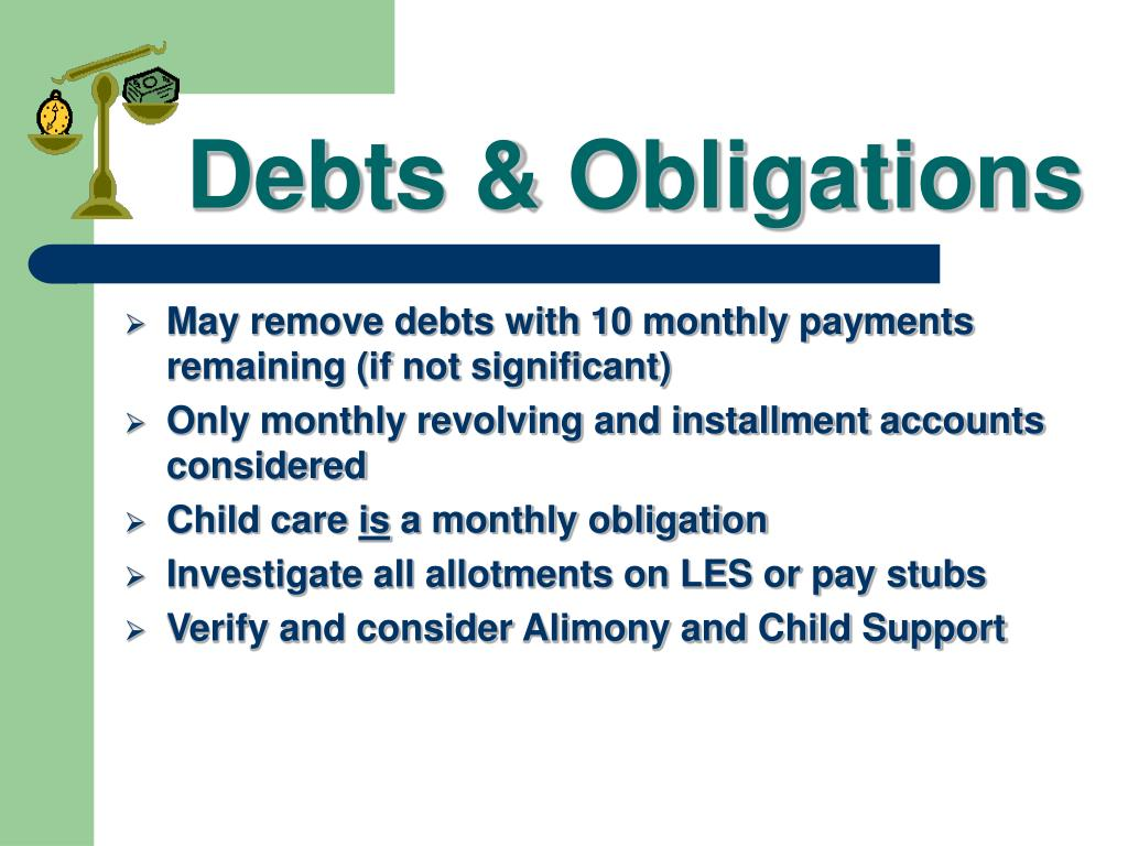Debts & Obligations