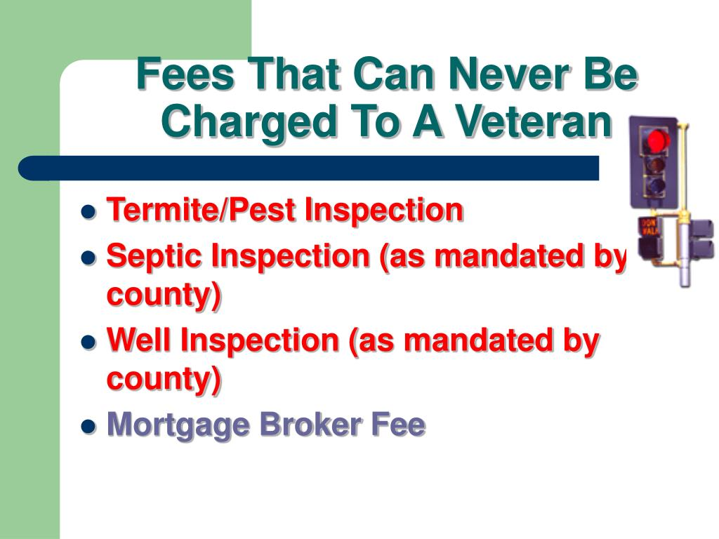 Fees That Can Never Be Charged To A Veteran