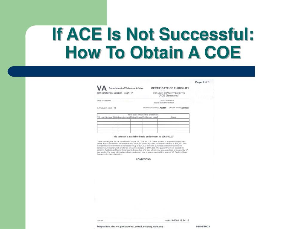 If ACE Is Not Successful: