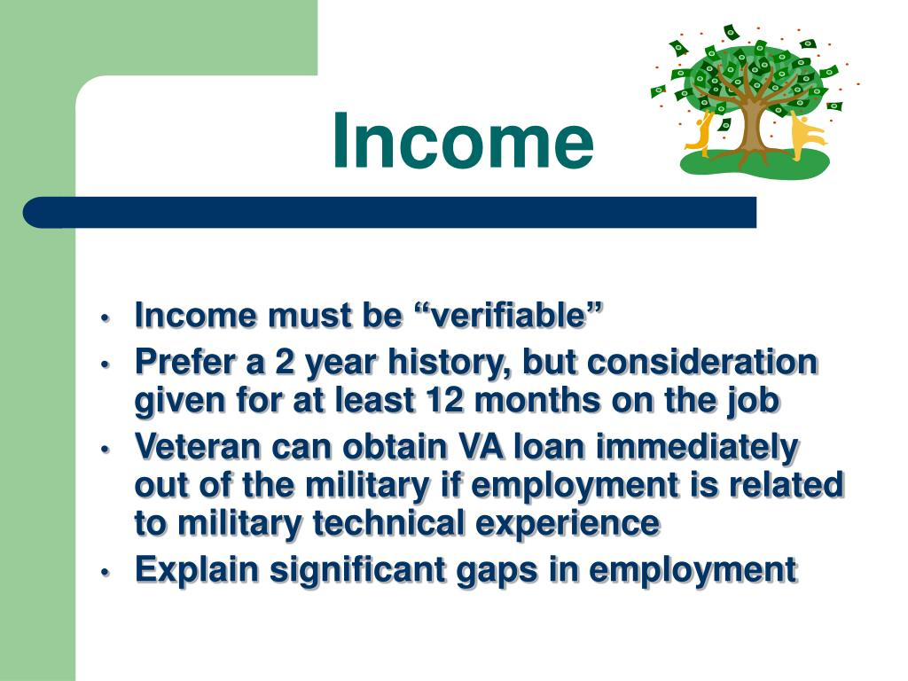 "Income must be ""verifiable"""