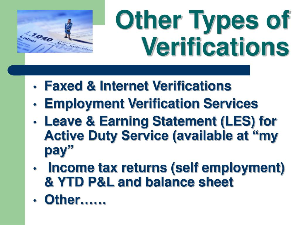 Other Types of Verifications