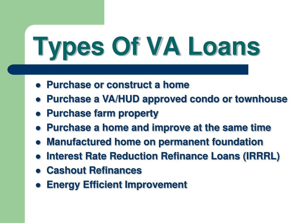 Types Of VA Loans