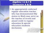 algebra i a i b geometry a b
