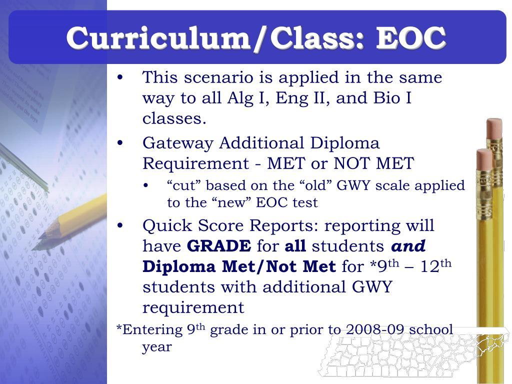 Curriculum/Class: EOC