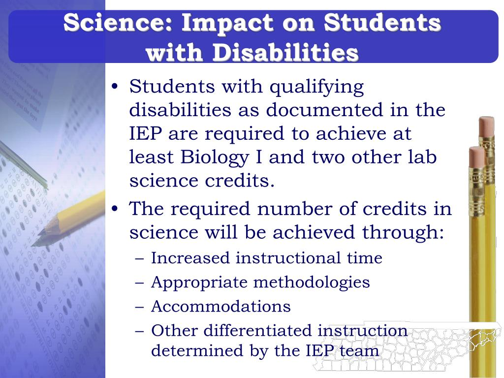 Science: Impact on Students with Disabilities