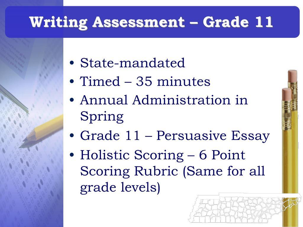 Writing Assessment – Grade 11