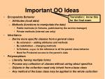 important oo ideas