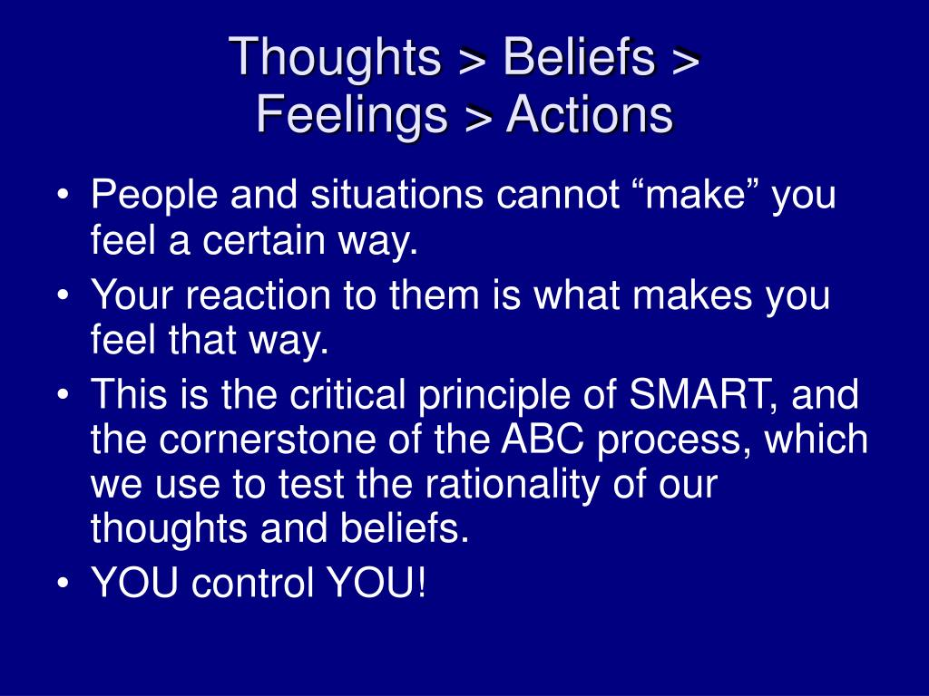 Thoughts > Beliefs >