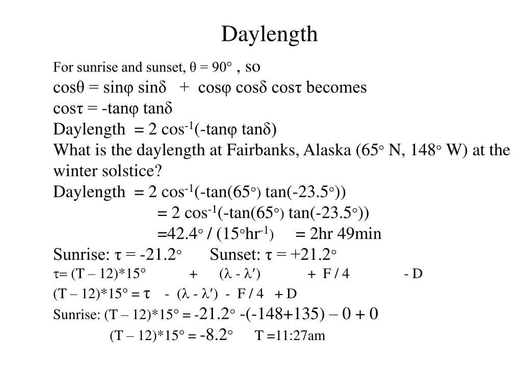 daylength l.