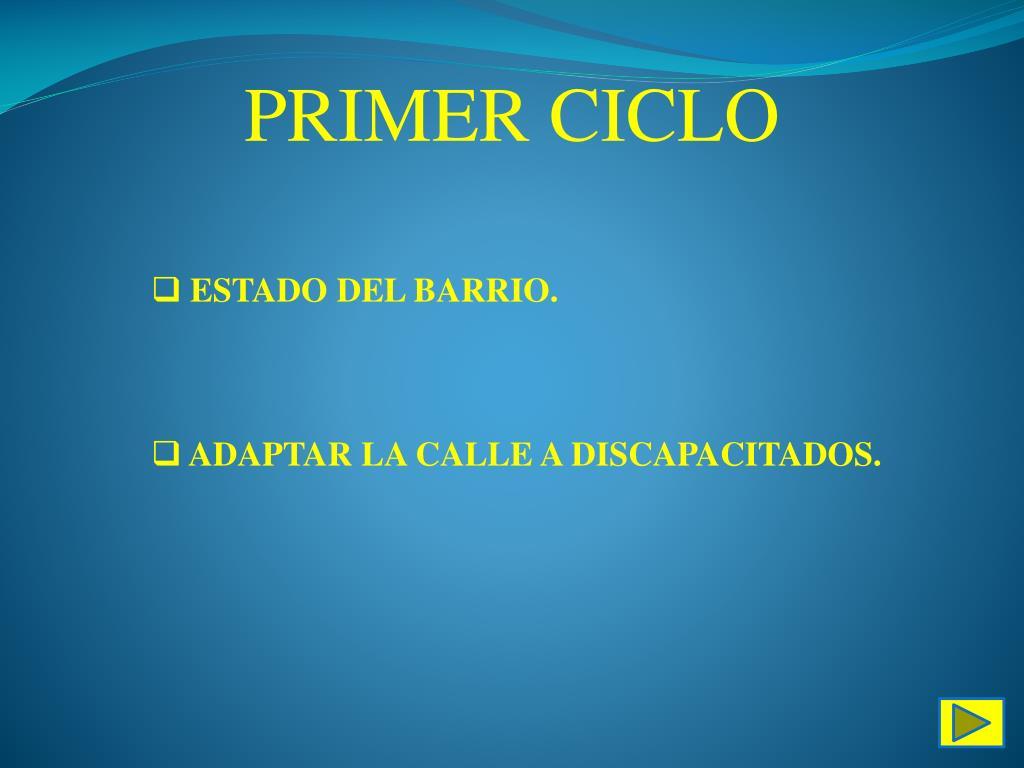 PRIMER CICLO