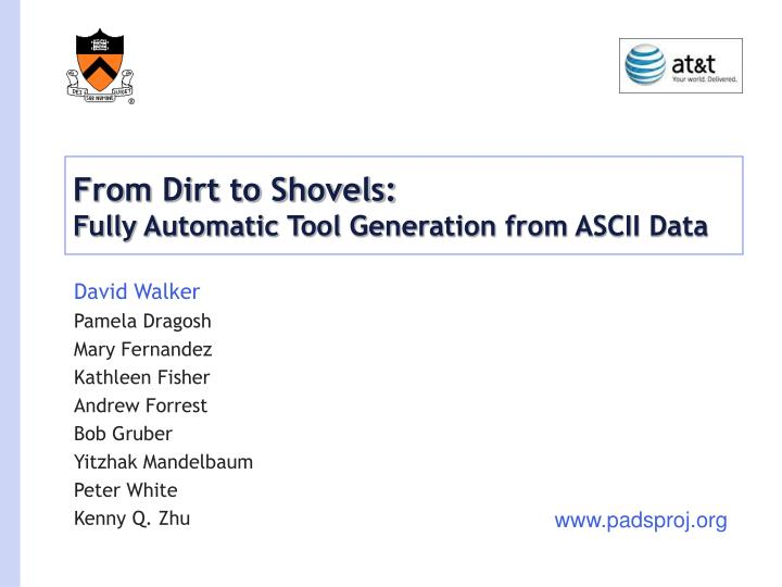 From dirt to shovels fully automatic tool generation from ascii data