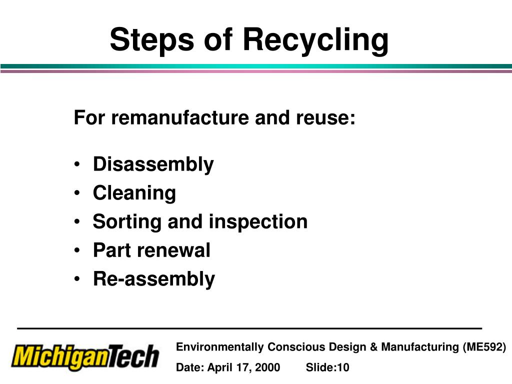 Steps of Recycling