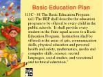 basic education plan