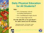 daily physical education for all students