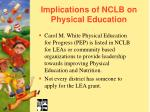 implications of nclb on physical education39