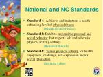 national and nc standards32