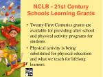 nclb 21st century schools learning grants