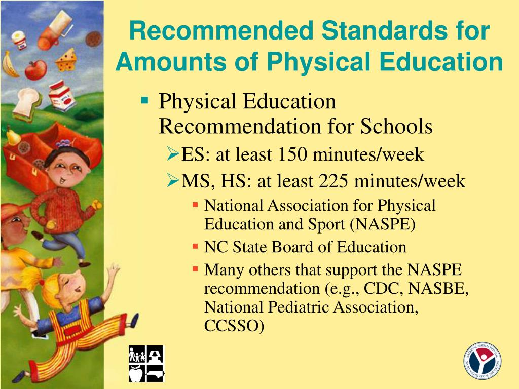 Recommended Standards for Amounts of Physical Education