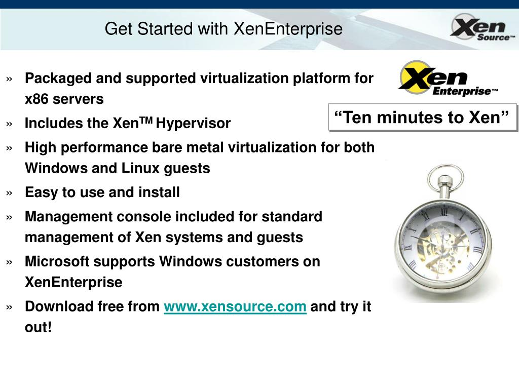 Get Started with XenEnterprise