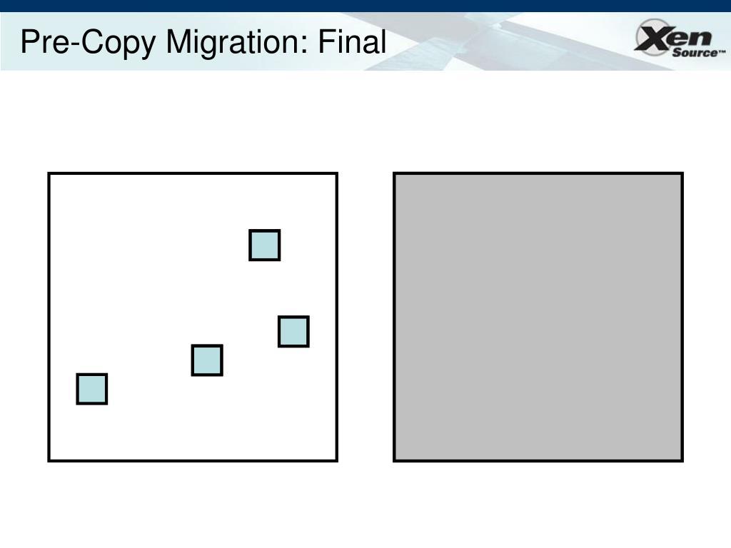 Pre-Copy Migration: Final